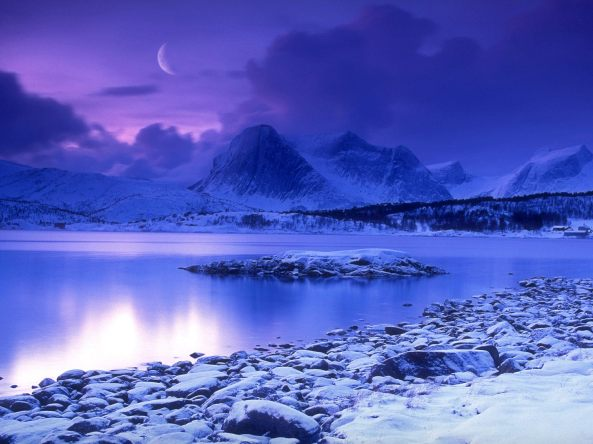 Cold_Mountain_Lake_at_Dusk_Skarstad_Norway